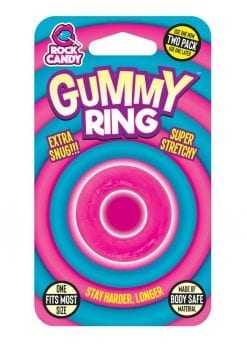 Rock Candy Gummy Ring Cock Ring One Size Fits Most Pink