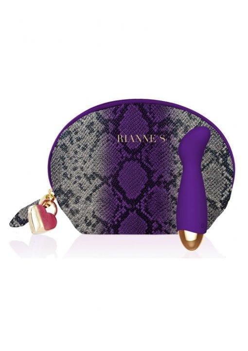 Rianne S Boa Deep Mini G-Spot Vibrator Multi Speed Silicone Rechargeable Purple