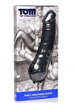 Tom Of Finland Tom`s  Inflatable Dildo Silicone Black
