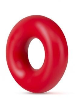 Stay Hard Donut Rings Oversized Cock Ring Red 2 Each Per Pack