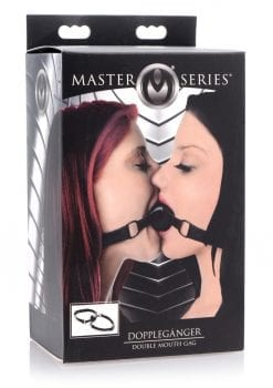 Master Series  Doppelganger Double Mouth Gag Silicone Adjustable