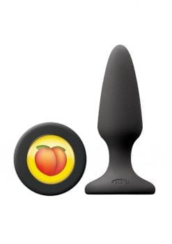 Mojis Hashtag BTY Silicone Medium Tapered Anal Plug - Black
