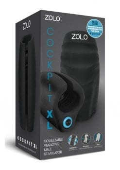 Zolo Cockpit XL Squeezable Vibrating Male Masturbator  Rechargeable  Waterproof