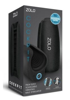 Zolo Vibrating Cockpit  Palm Sized Squeezable Vibrating  Male Stroker Rechargeable Waterproof