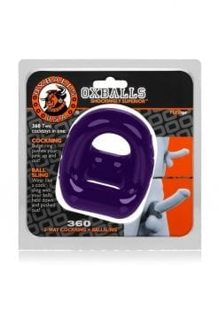 360  2-Way Cockring And Ballsling  Purple