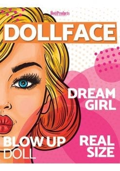 Doll Face Real Life Size Female Blow-Up Doll 5.2 Inches