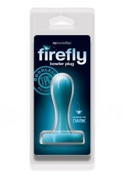 Firefly Bowler Plug Small Anal Plug Glow In The Dark - Blue