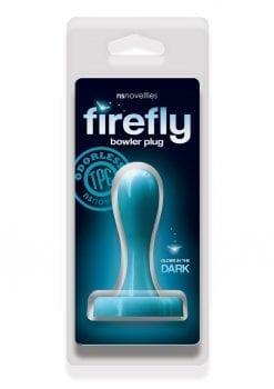 Firefly Bowler Plug Small Anal Plug Glow In The Dark - Blue
