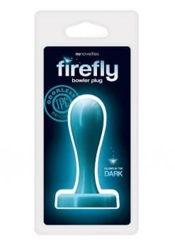 Firefly Bowler Plug Medium Anal Plug Glow In The Dark - Blue