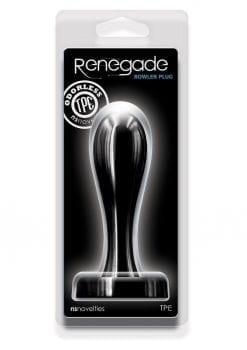 Renegade Bowler Plug Large Silicone Anal Plug - Black