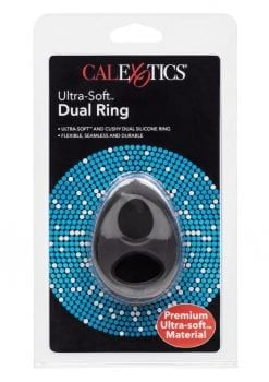 Ultra Soft Dual Silicone Cock Ring Black