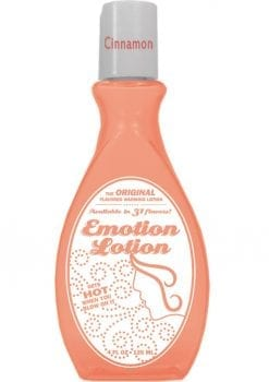 Emotion Lotion Flavored Water Based Warming Lotion Cinnamon 4 Ounce