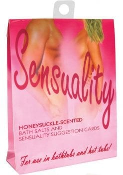 Passion Pomegranate Scented Bath Salts With Suggestion Cards