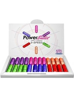Power Bullet 3 Speed Waterproof Assorted Colors 24 Each Per Bowl