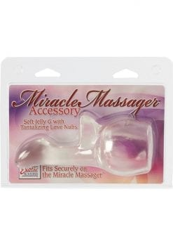 Miracle Massager Accessory Soft Jelly G With Love Nubs 6 Inch Clear