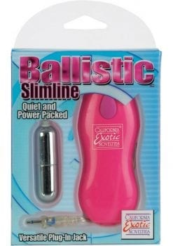 Ballistic Slimline Bullet With Versatile Plug In Jack 2 Speed Remote 2.2 Inch Pink