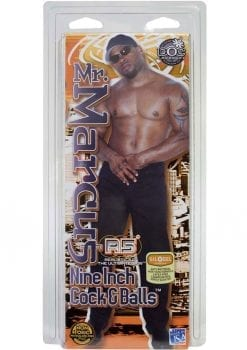 Signature Cocks Mr. Marcus Dildo with Balls 9in - Chocolate
