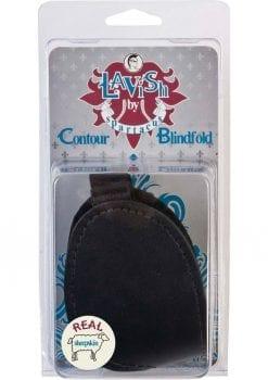 Lavish Contour Blindfold With Real Fleece Lining Black