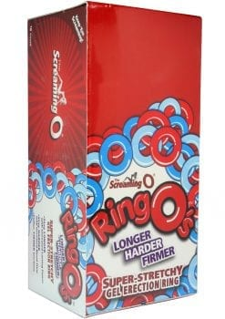 Ringos Silicone Cock Rings Waterproof 18 Per Display Assorted Colors