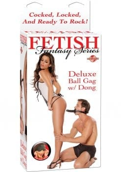 Fetish Fantasy Series Deluxe Ball Gag With Dong Black