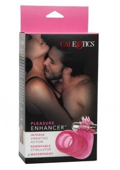 Pleasure Enhancer With Removable Stimulator Waterproof 3.5 Inch Pink