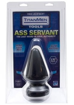 TitanMen Tools Ass Servant Plug Black 5.5 Inch
