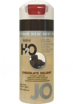 Jo H2O Flavored Water Based Lubricant Chocolate Delight 4 Ounce