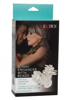 El Toro Enhancer With Beads With Removable Stimulator Waterproof 3.5 Inch Clear