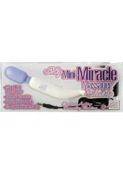 My Mini Miracle Massager Electric 2 Speed 120 Colt 8 Inch White With Purple