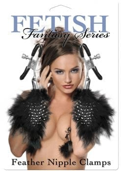 Fetish Fantasy Series Feather Nipple Clamps Black