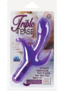 TRIPLE TEASE WATERPROOF 3 INCH PURPLE