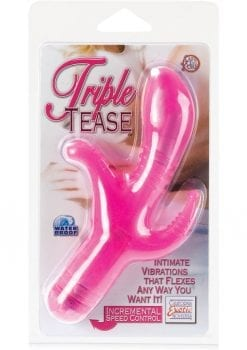TRIPLE TEASE WATERPROOF 3 INCH PINK