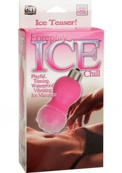 Foreplay Ice Chill Vibrating Ice Massager Silicone 3 Inch Pink