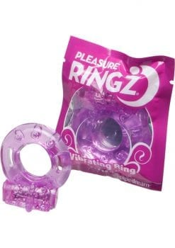 Vibrating Pleasure Ringz Disposable Cockring 36 Per Bowl