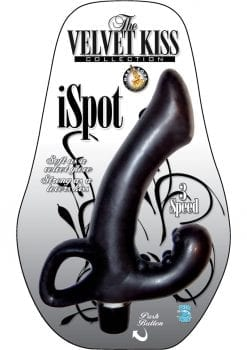 The Velvet Kiss Collection iSpot Multispeed Waterproof Black