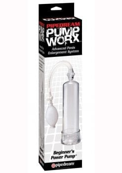Pump Worx Beginners Power Pump With Cockring Clear