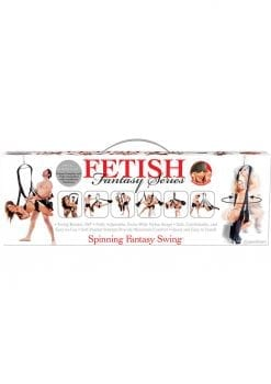 Fetish Fantasy Series Spinning Fantasy Swing Black