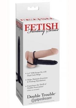 Fetish Fantasy Double Trouble Strap On 5.5 Inch Black
