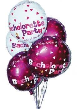 Bachelorette Party Foil Balloons Assorted Colors 9 Per Pack