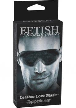 Fetish Fantasy Series Limited Edition Leather Love Mask Black