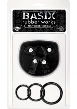 Basix Rubber Works Universal Harness Regular Size Black