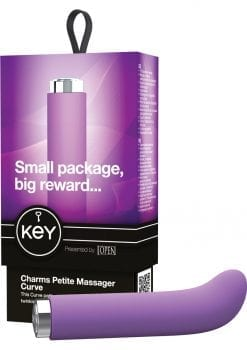 Key Charms Curve Silicone Vibrator Waterproof 4 Inch Lavender