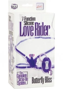 7 Function Love Rider Silicone Vibrating Butterfly Bliss Purple Adjustable