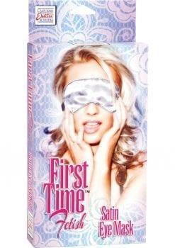 First Time Satin Eye Mask White