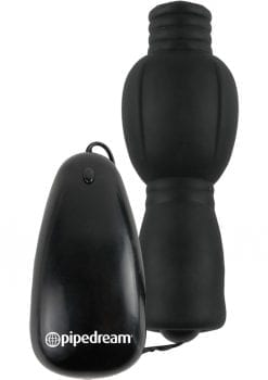 Fetish Fantasy Series Vibrating Head Teazer Wired Remote Control Black