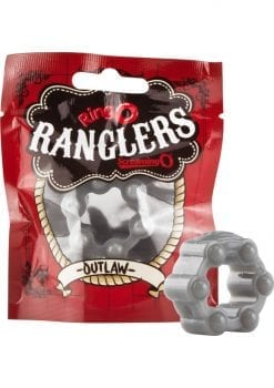 Ringo Rangler Outlaw Cockring Grey 10 Each Per Box