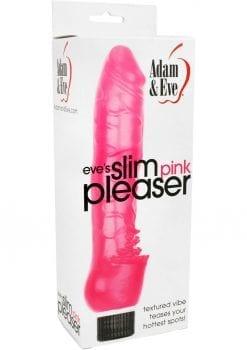 Adam and Eve Eve`s Slim Pink Pleaser Vibrator Waterproof Pink 7 Inch