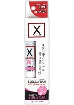X On The Lips Buzzing Lip Balm With Pheromones Bubble Gum Flavor .75oz