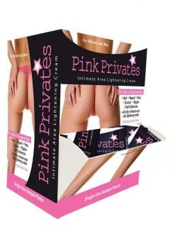 Pink Privates Intimate Area Ligtening Cream Counter Display 50 Each Sample
