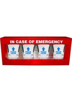 In Case Of Emergency Shot Glass Set 4 Each